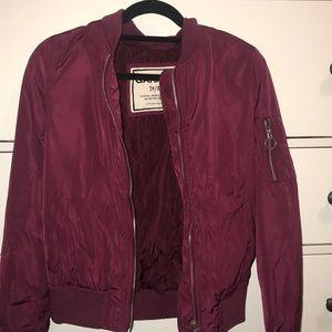 Red garage bomber jacket